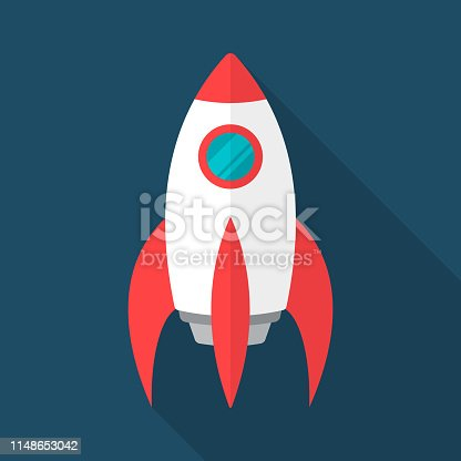 Rocket Illustration in Flat Design Style. With EPS 10 Files, Easy to Edit and Use.