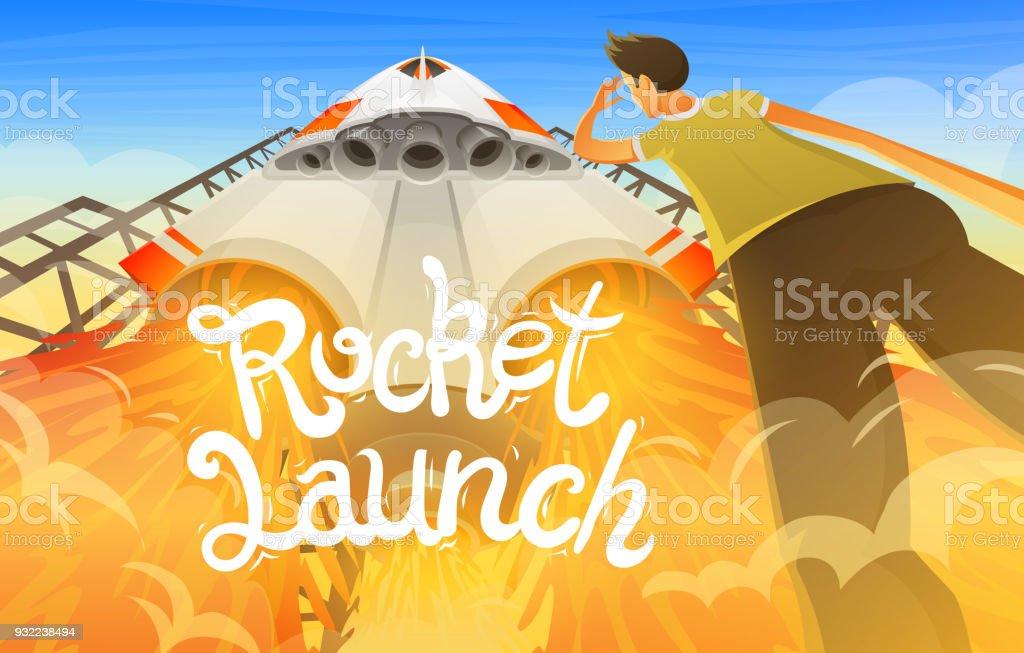 Rocket Launch International Spaceship Shuttle In Space Bottom View