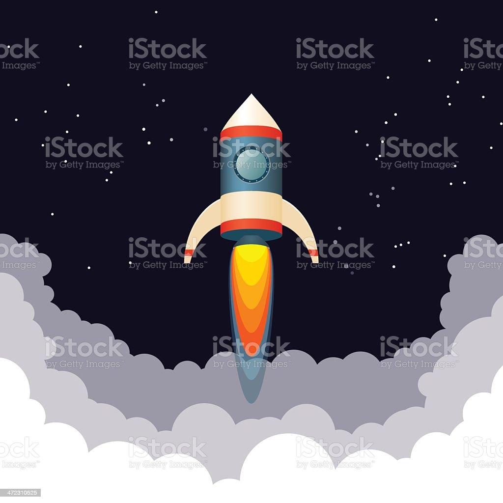 Rocket launch royalty-free stock vector art