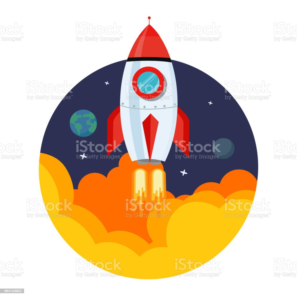 Rocket Launch royalty-free rocket launch stock vector art & more images of cartoon