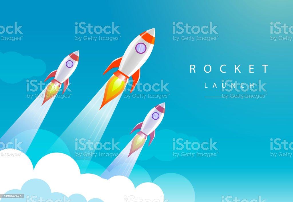 raketlancering - Royalty-free Aspiraties vectorkunst