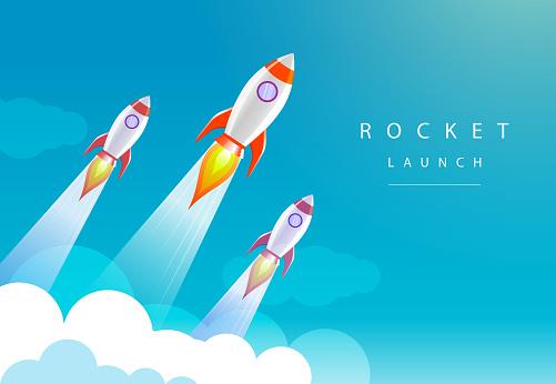 Raketlancering Stockvectorkunst en meer beelden van Aspiraties