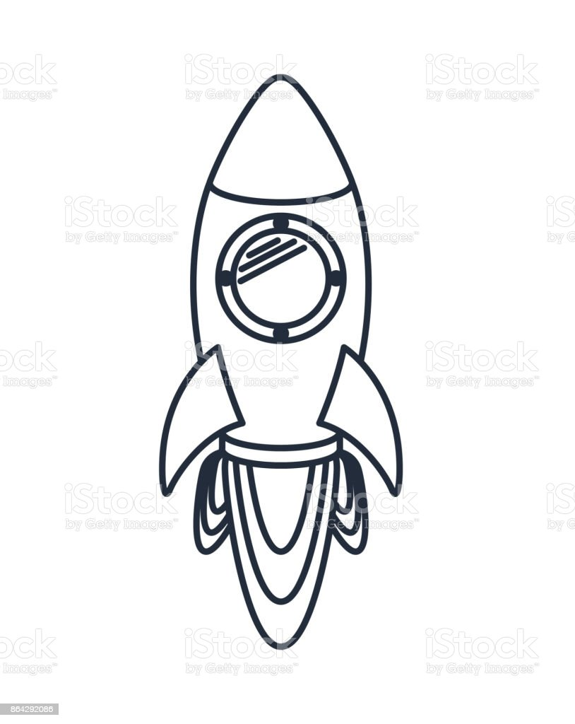 rocket launcher isolated icon design royalty-free rocket launcher isolated icon design stock vector art & more images of art