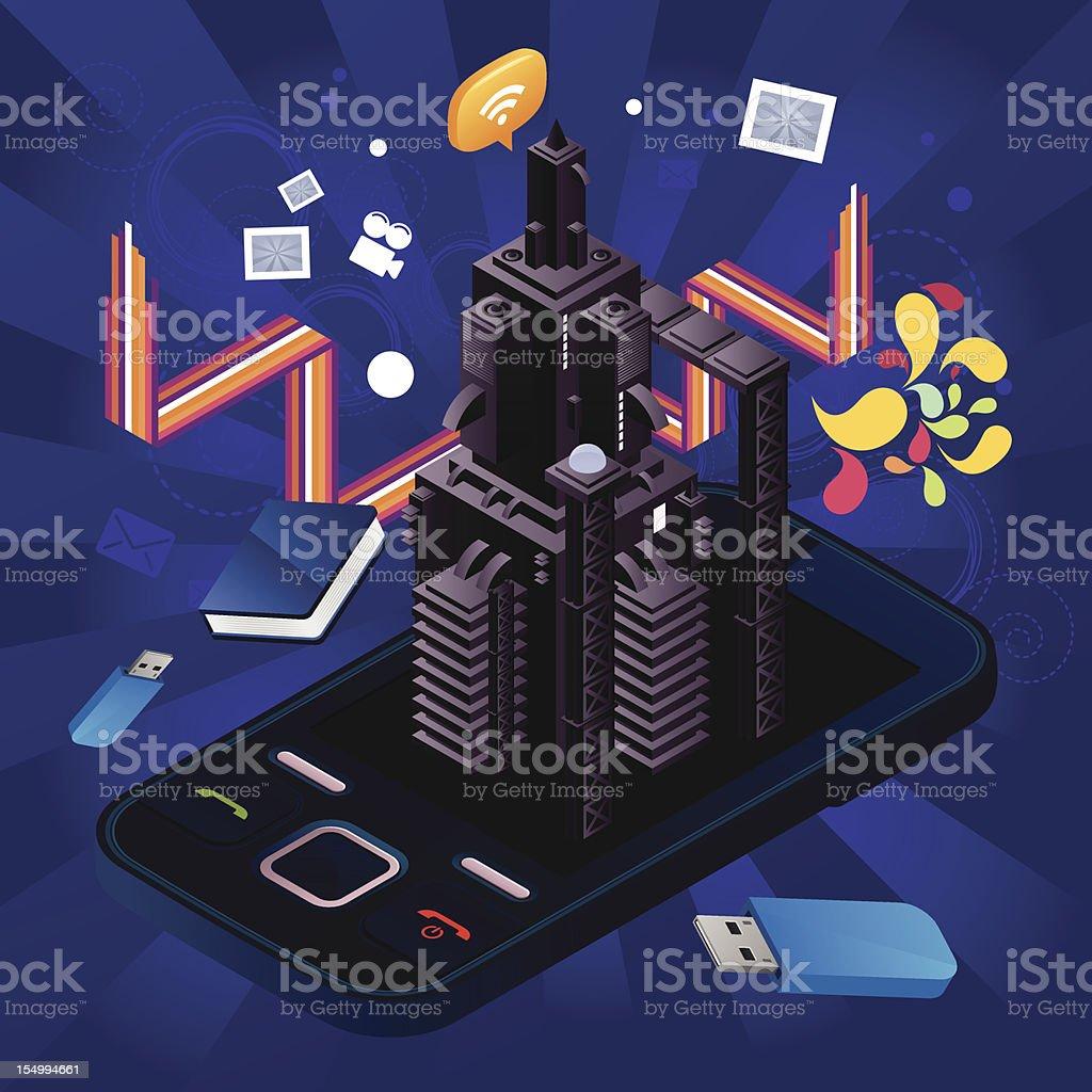 Rocket phone royalty-free stock vector art
