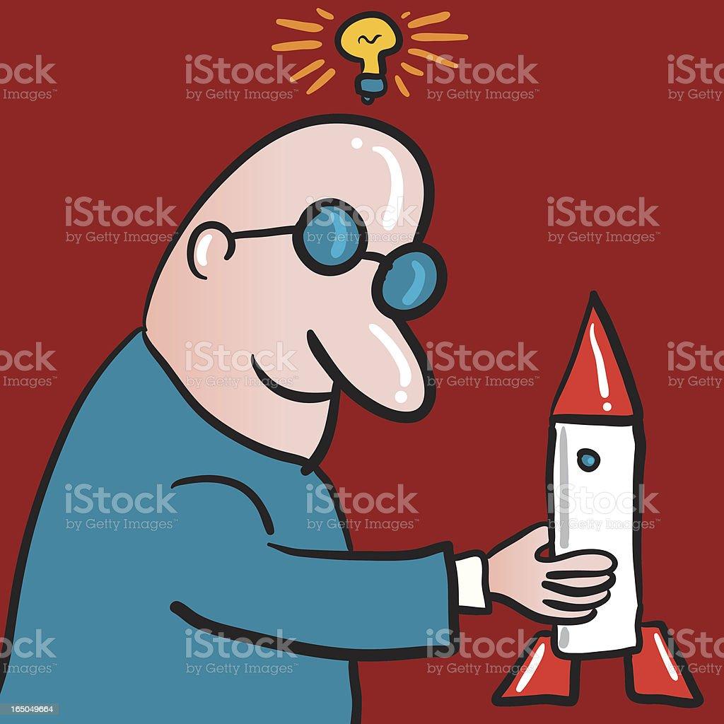 rocket scientist royalty-free stock vector art