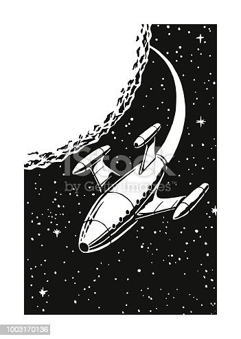 Rocket Ship in Outer Space