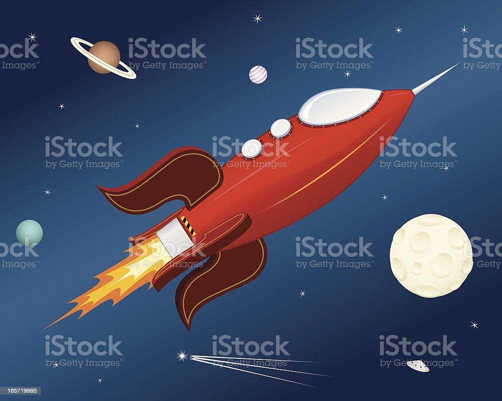 Rocket Ship royalty-free stock vector art