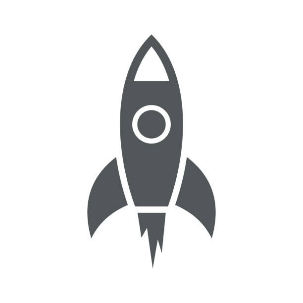 illustrations, cliparts, dessins animés et icônes de icône simple fusée. vector - rocket