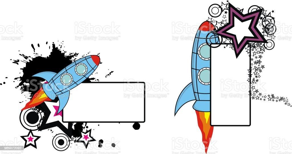 rocket spaceship cartoon copyspace set rocket spaceship cartoon copyspace set - stockowe grafiki wektorowe i więcej obrazów abstrakcja royalty-free