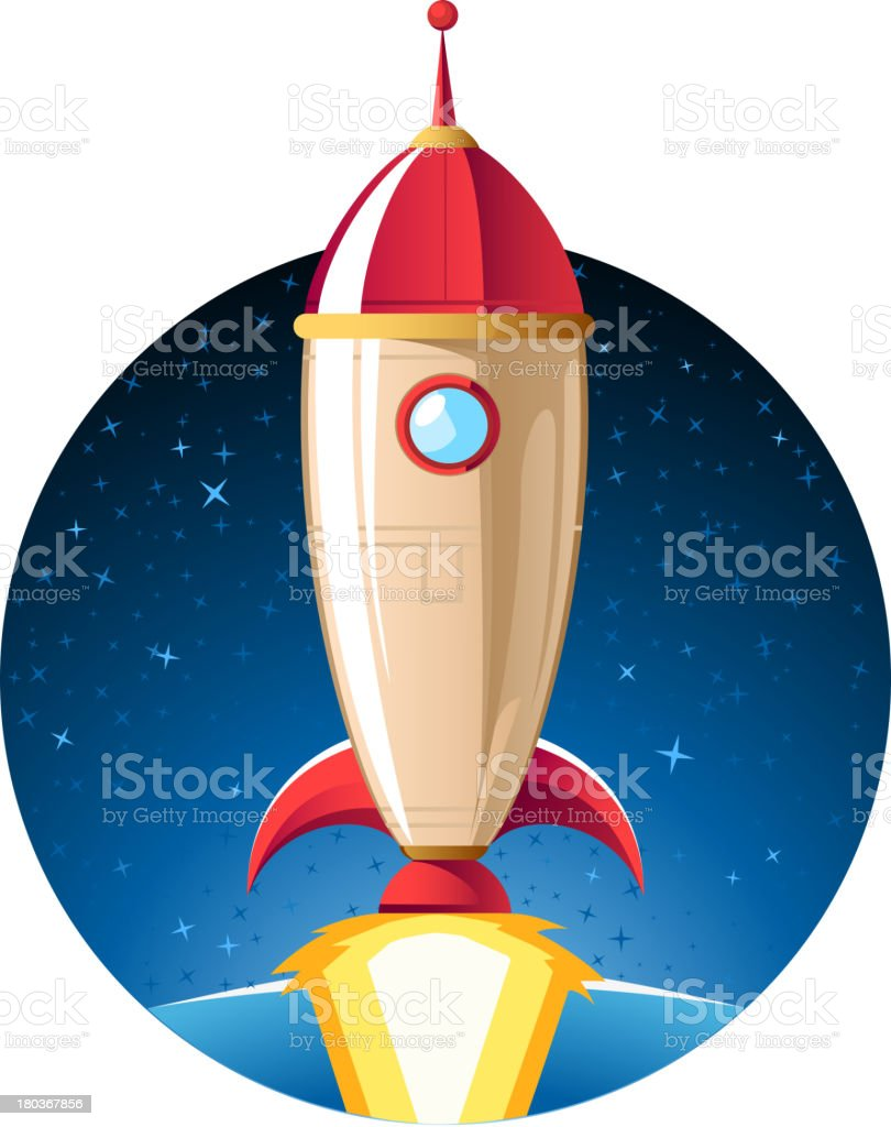 Rocket spaceship taking off to outer space star shape background royalty-free rocket spaceship taking off to outer space star shape background stock vector art & more images of alien