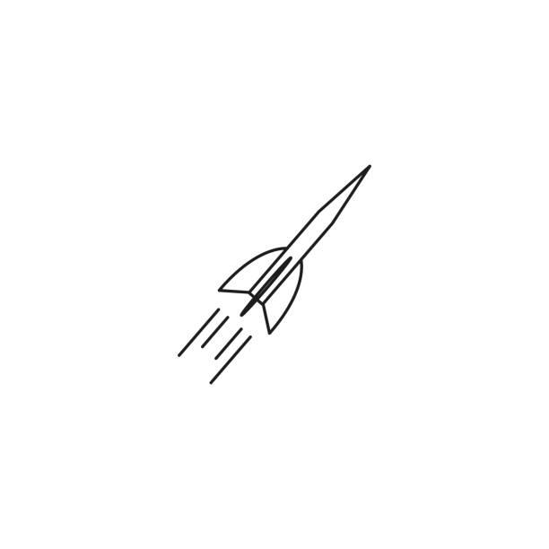 Rocket start simple icon on white background. Vector illustration. vector art illustration