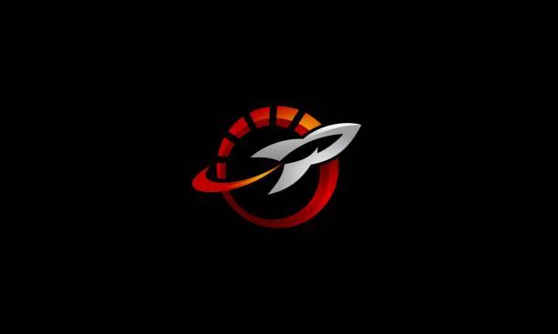 raket-tuning automobil-logo-illustration - flat icons stock-grafiken, -clipart, -cartoons und -symbole