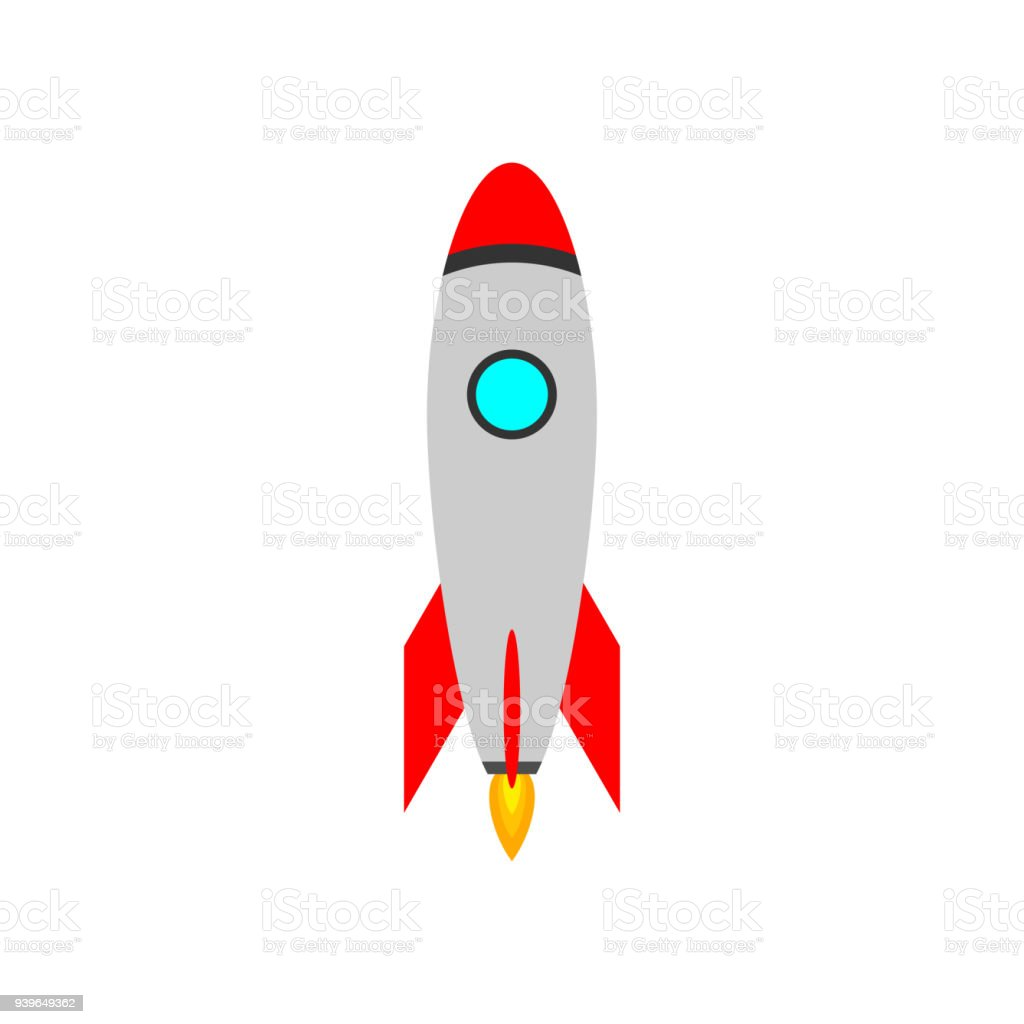 Rakete Vektor Icon Roket Konzept Symbol Raumschiff Starten Stock Vektor Art  und mehr Bilder von Abheben - Aktivität - iStock
