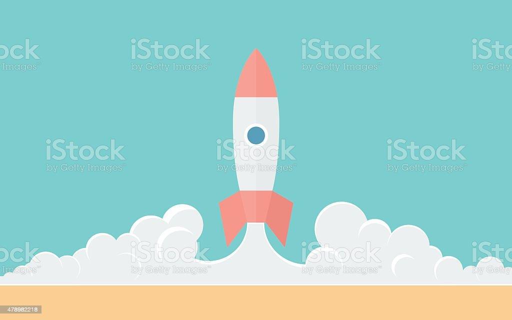 Rocket vector art illustration
