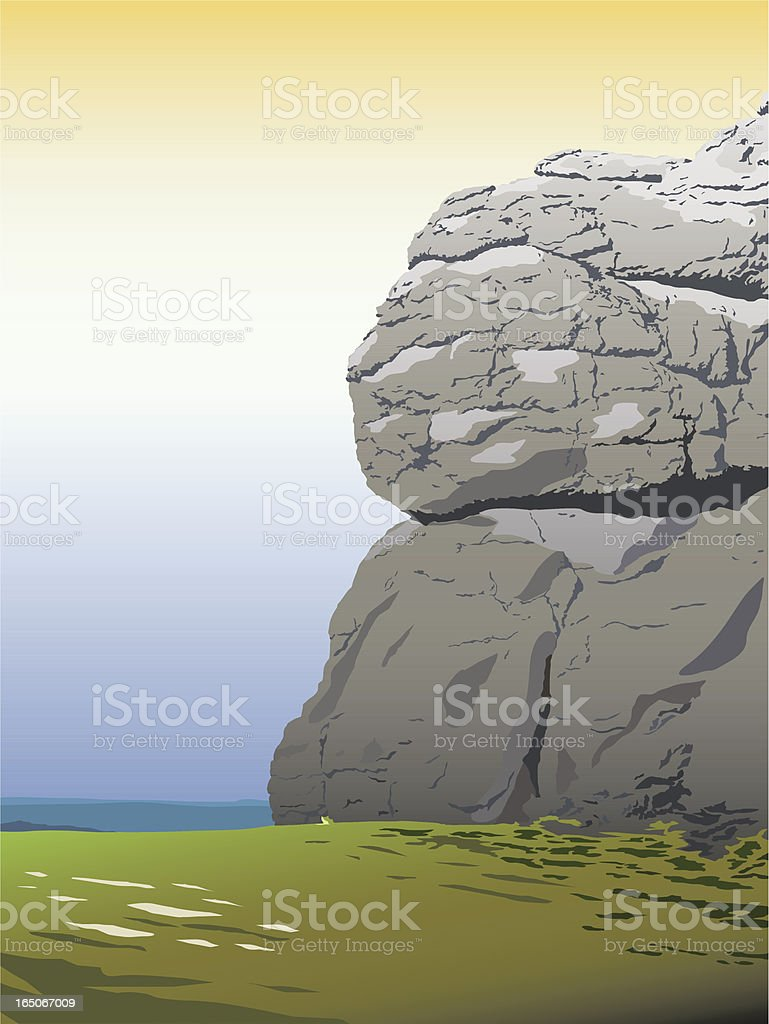 Rockface royalty-free rockface stock vector art & more images of clear sky