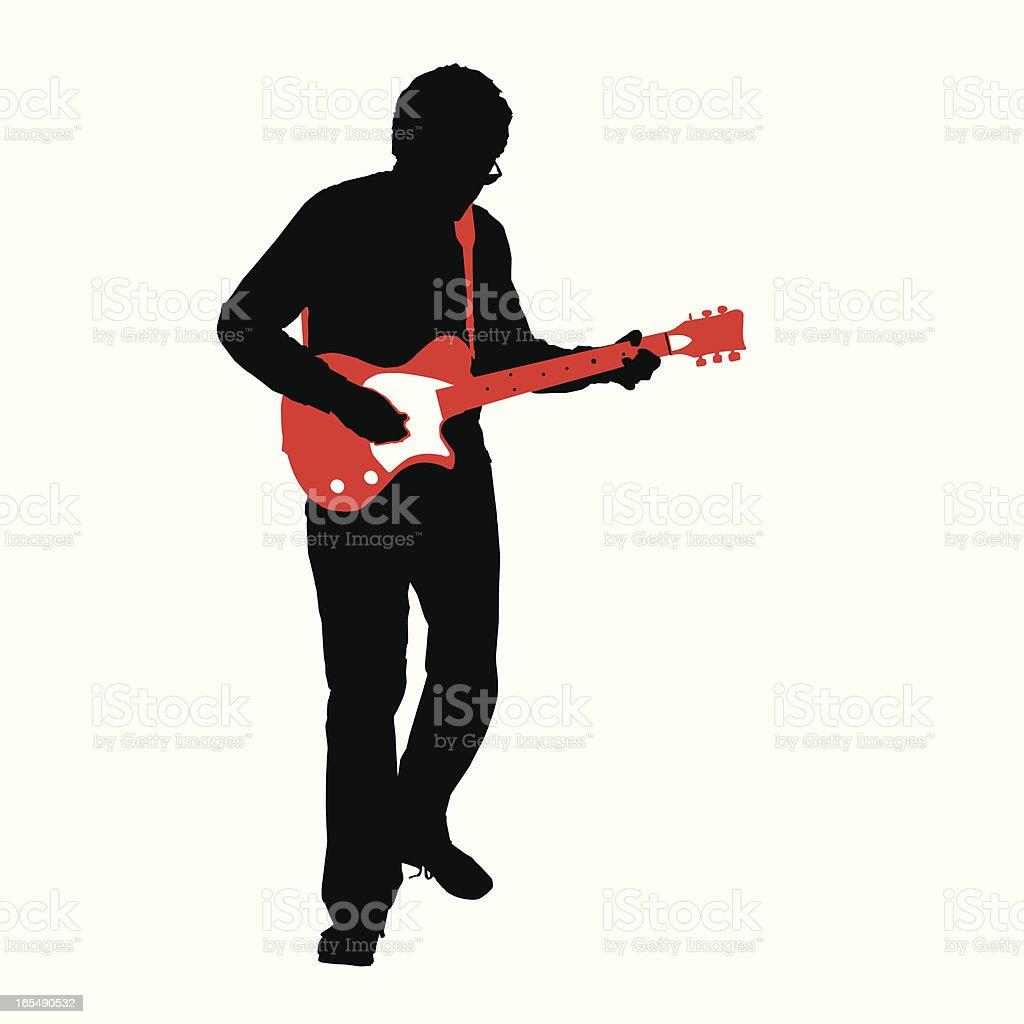 Rockin' Guitarist on White (vector/jpg) vector art illustration