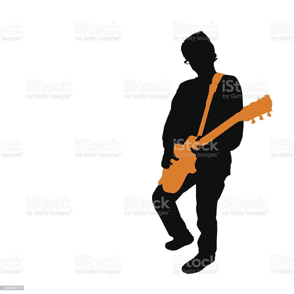 Rockin' Guitarist (vector illustration) royalty-free stock vector art