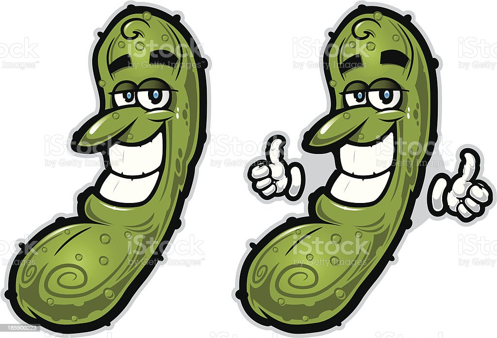 Rockin' Pickle Illustration royalty-free stock vector art