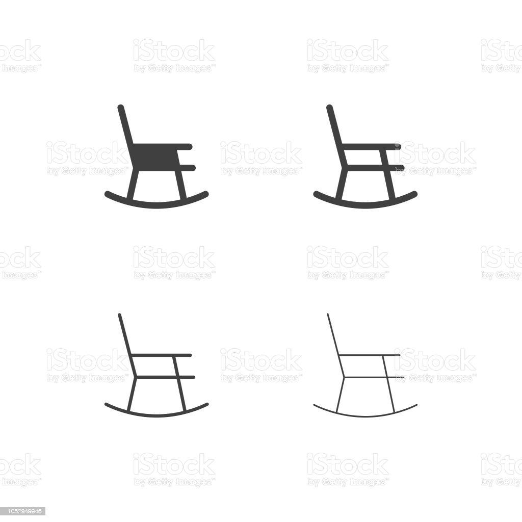 Schaukelstuhl Icons Multi Serie Stock Vektor Art Und Mehr Bilder Von