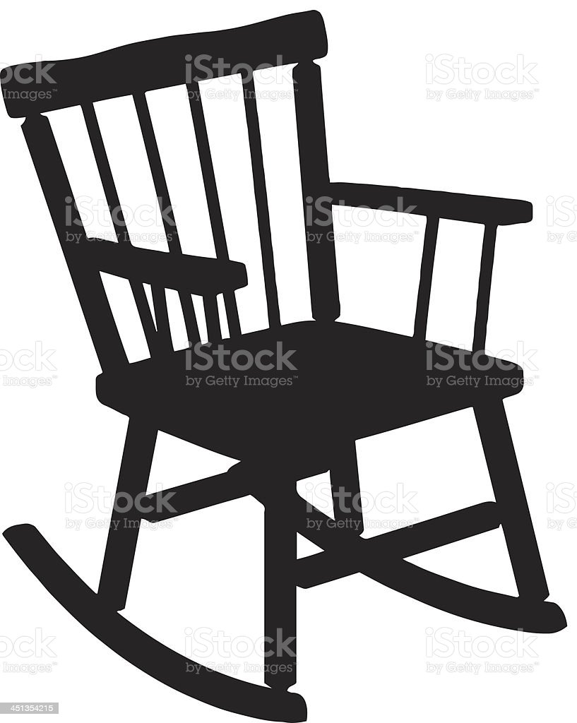 rocking chair silhouette stock vector art more images of back lit rh istockphoto com rocking chair clipart free baby rocking chair clipart