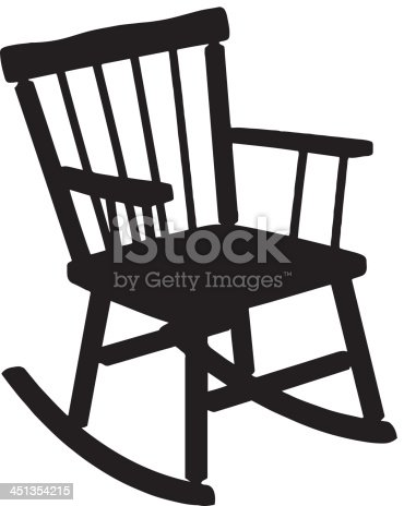 rocking chair silhouette stock vector art more images of back lit 451354215 istock. Black Bedroom Furniture Sets. Home Design Ideas