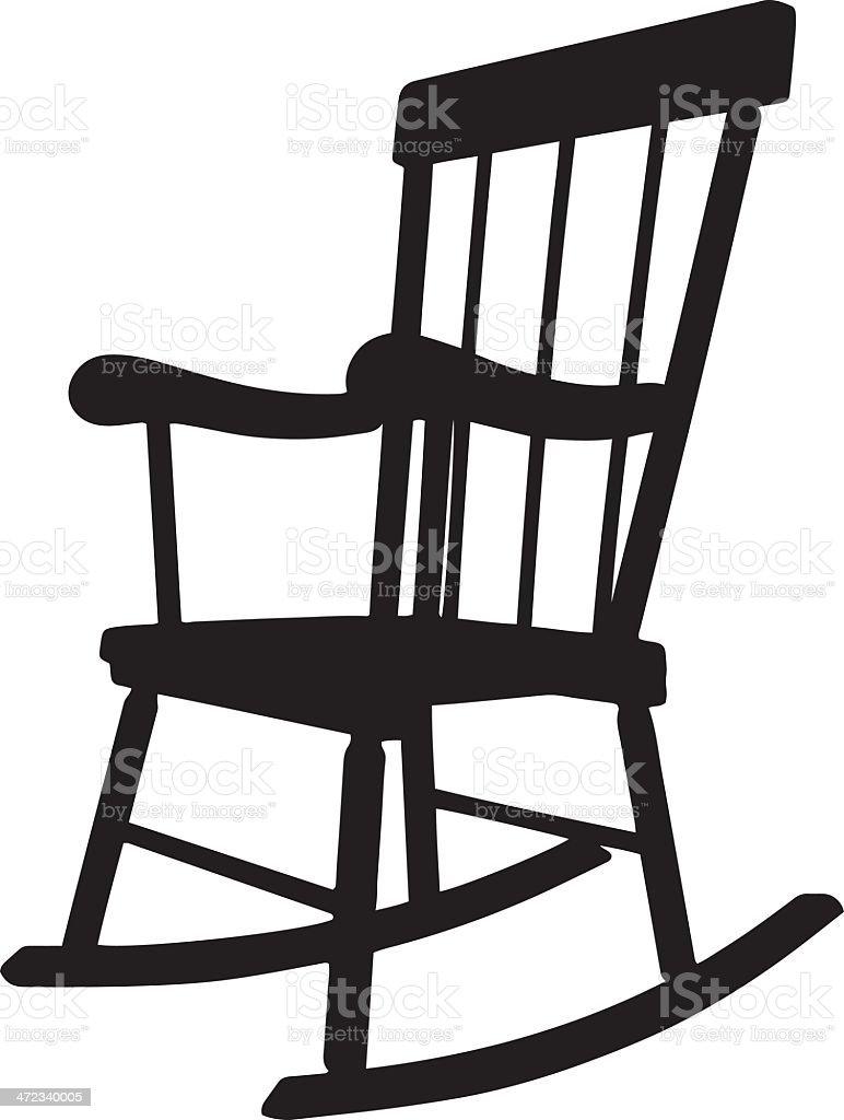 Rocking Chair Clip Art ~ Rocking chair silhouette stock vector art more images of