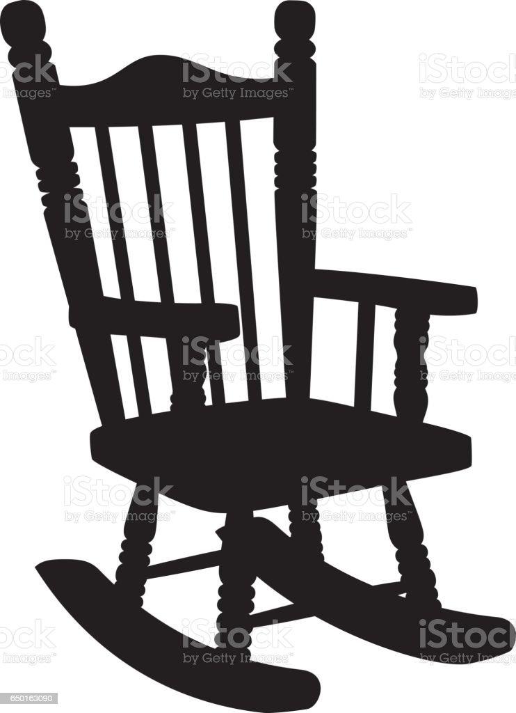 Rocking Chair Silhouette stock vector art 650163090 iStock
