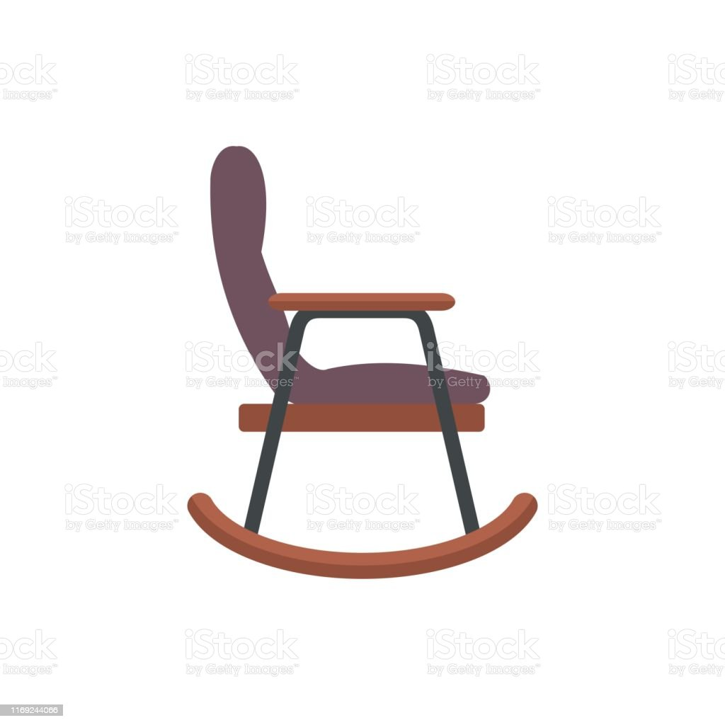 Magnificent Rocking Chair Simple Flat Illiustration Stock Illustration Customarchery Wood Chair Design Ideas Customarcherynet