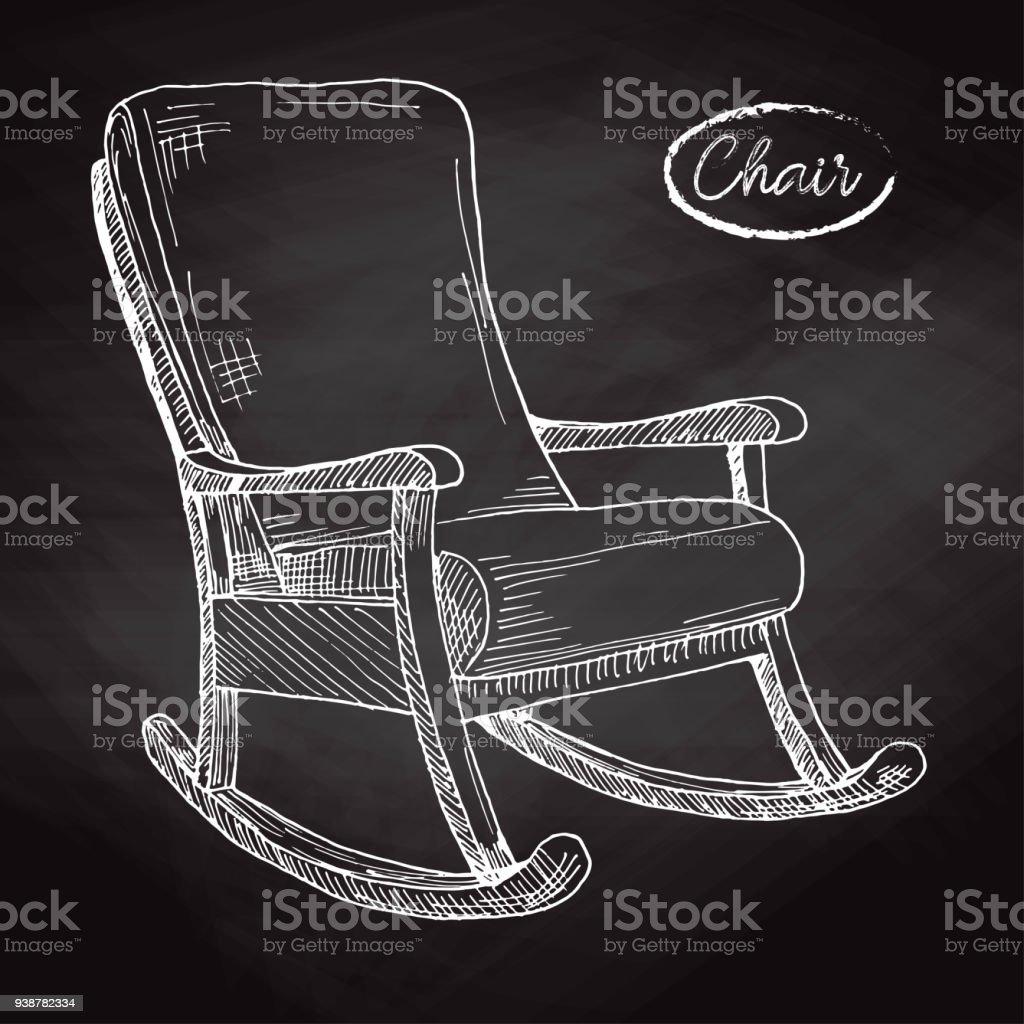Fauteuil A Bascule Esquissez Une Chaise Confortable Illustration