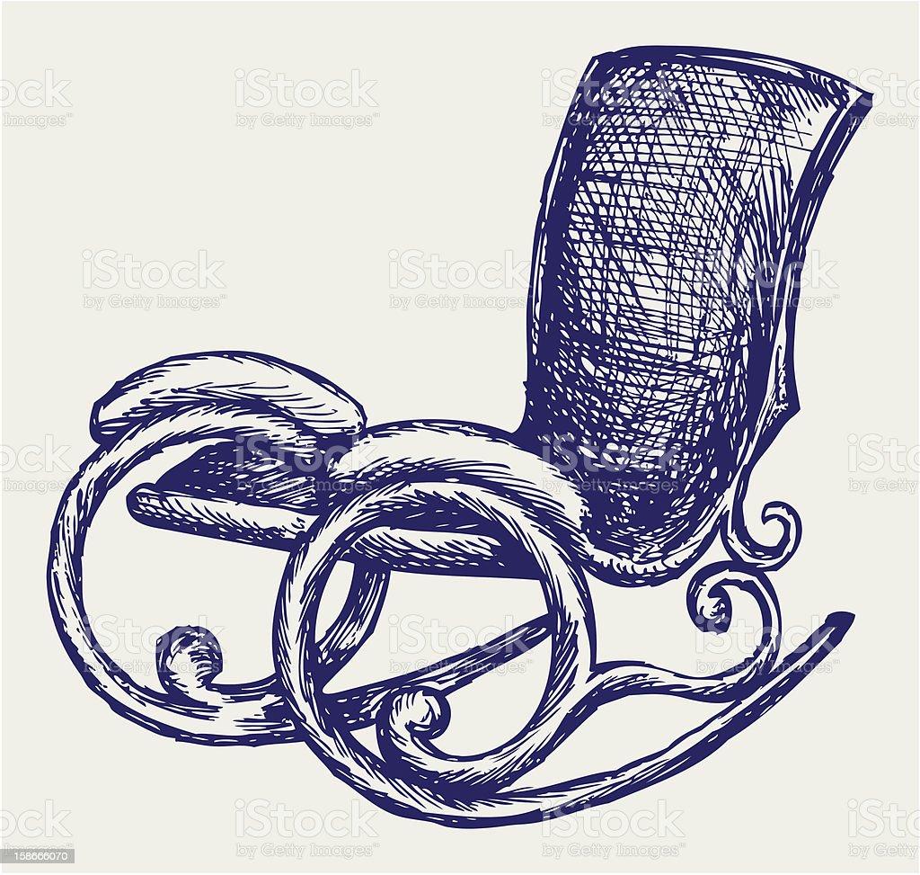 Superb Rocking Chair Stock Illustration Download Image Now Istock Customarchery Wood Chair Design Ideas Customarcherynet