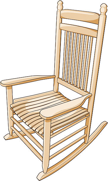 Rocking Chair Clip Art ~ Royalty free rocking chair clip art vector images