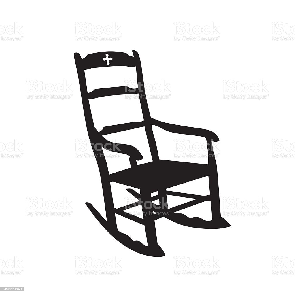 rocking chair clipart. Rocking Chair Vector Art Illustration Clipart