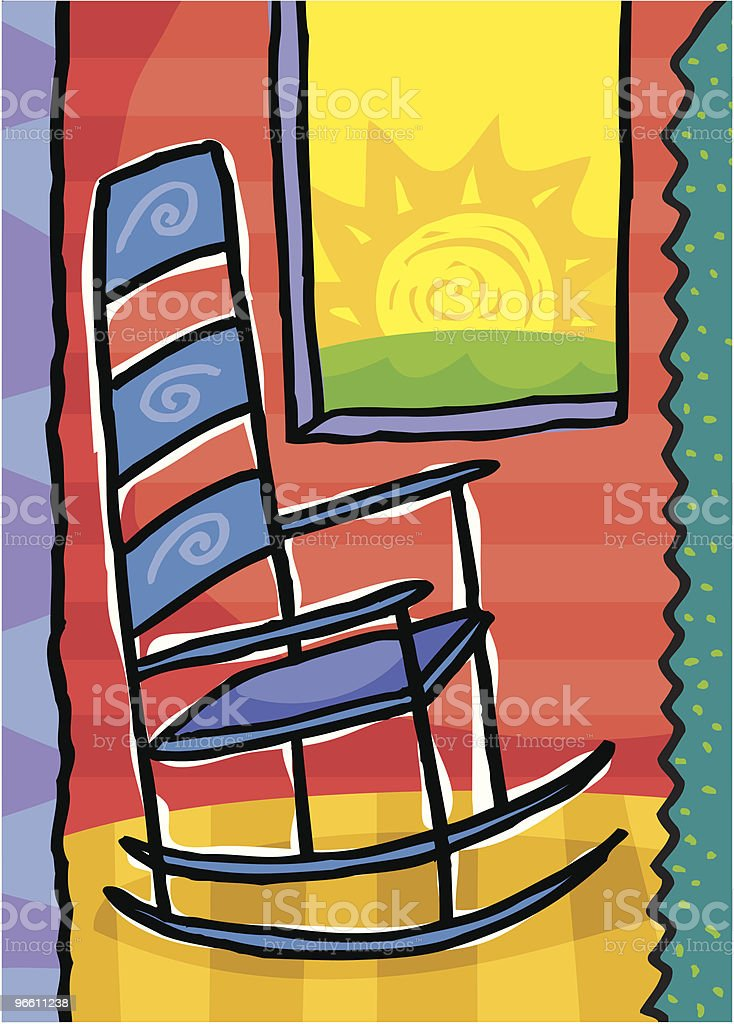 Rocking chair - Royalty-free Absence stock vector