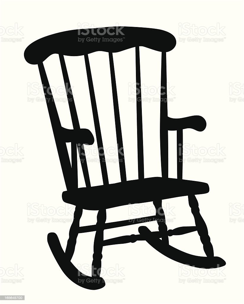 Ordinaire Rocking Chair Vector Silhouette Royalty Free Rocking Chair Vector Silhouette  Stock Vector Art U0026amp;