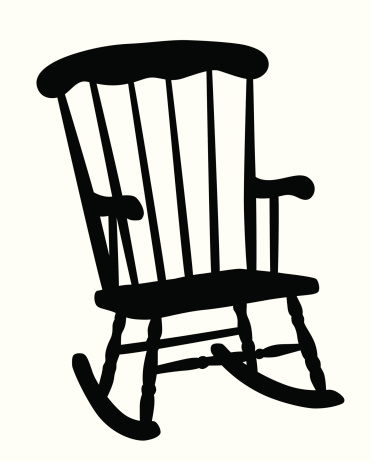 Rocking Chair Vector Silhouette Stock Illustration ...