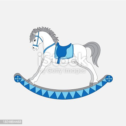istock Rocking horse for kid. 1324854453