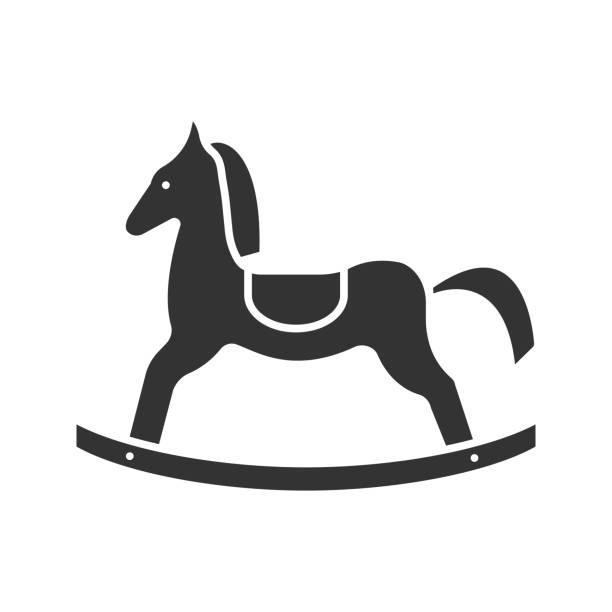 schaukelpferd-symbol - puppenkurse stock-grafiken, -clipart, -cartoons und -symbole