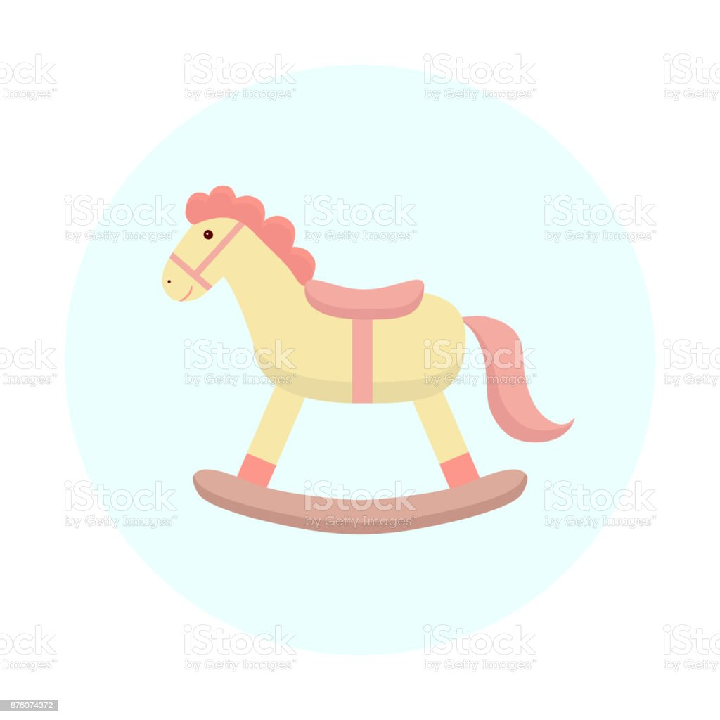 royalty free rocking horse clip art vector images illustrations rh istockphoto com baby rocking horse clip art free Christmas Rocking Horse Clip Art