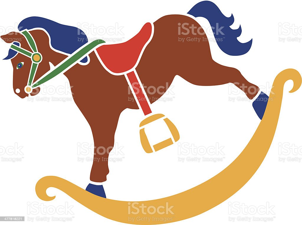 royalty free rocking horse clip art vector images illustrations rh istockphoto com baby rocking horse clipart vintage rocking horse clipart