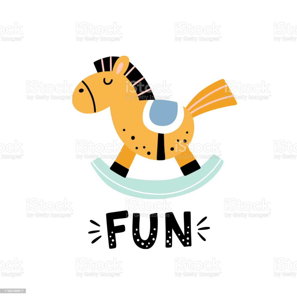 Rocking Horse Vector Illustration On White Background Cute Horse Toy For Kids Funny Children Clipart Stock Illustration Download Image Now Istock