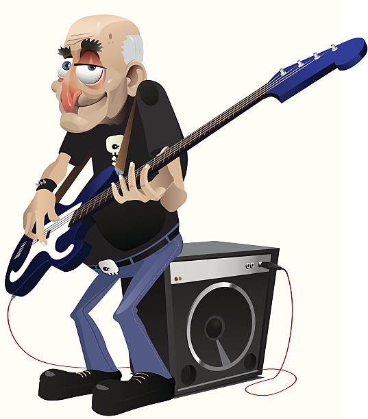 rock'n'roll an idol. - old man shoes stock illustrations, clip art, cartoons, & icons