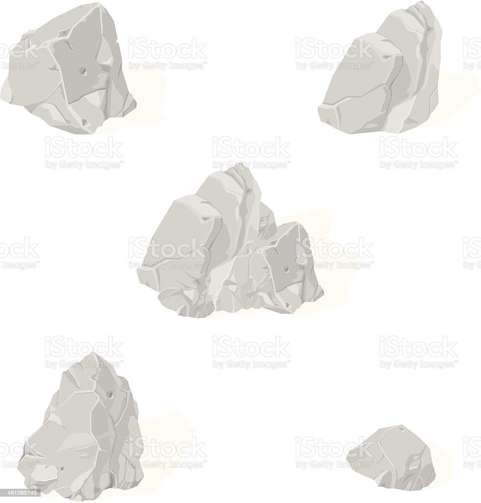 Rocks and Rubble vector art illustration