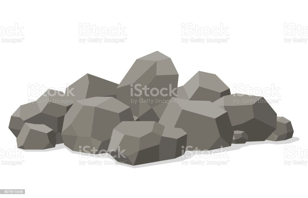 Rocks And Stones Piled Isolated On White Background Stones And Rocks
