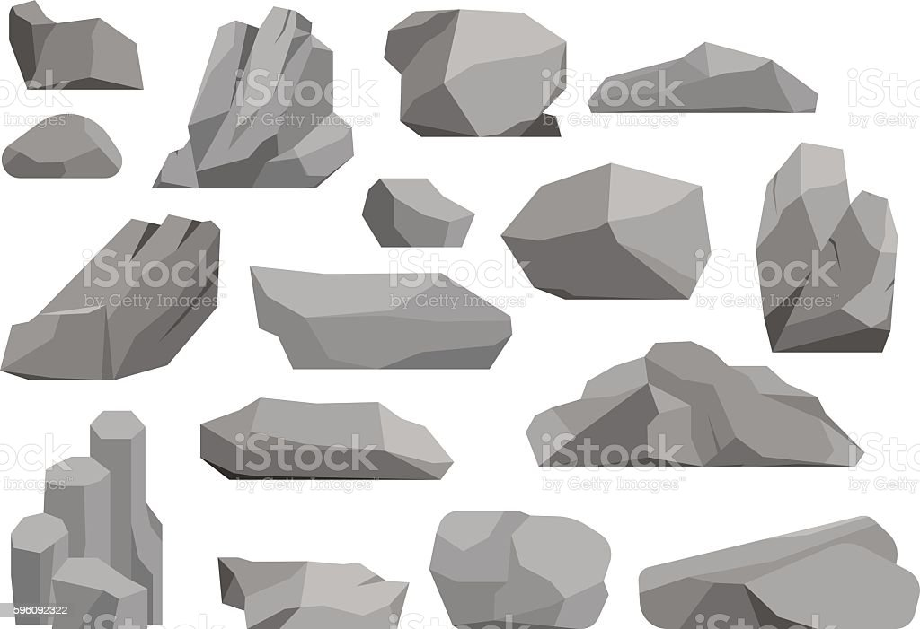 Rocks and stones vector illustration royalty-free rocks and stones vector illustration stock vector art & more images of art