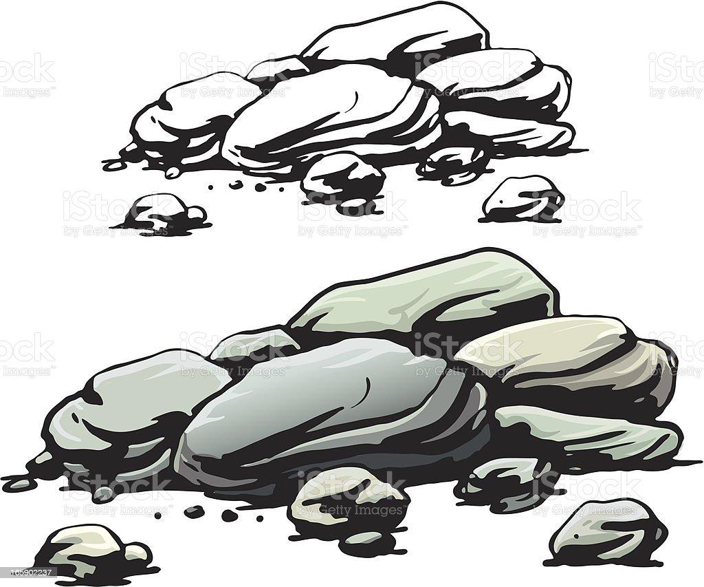 Rocks vector art illustration
