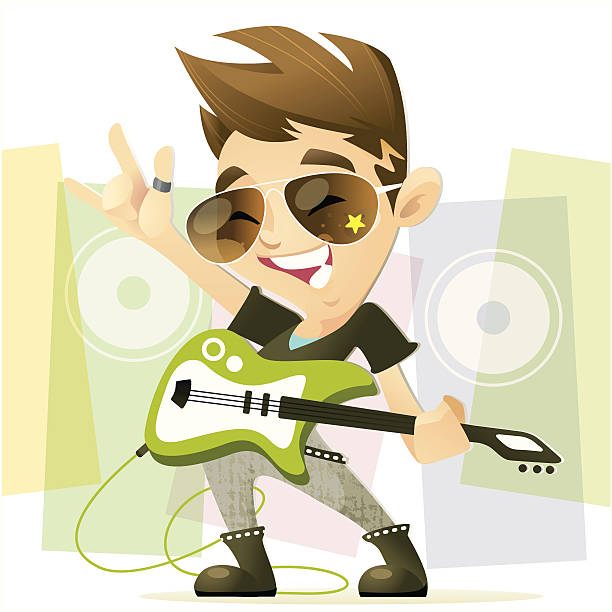 rockstar boy - chihhang stock illustrations