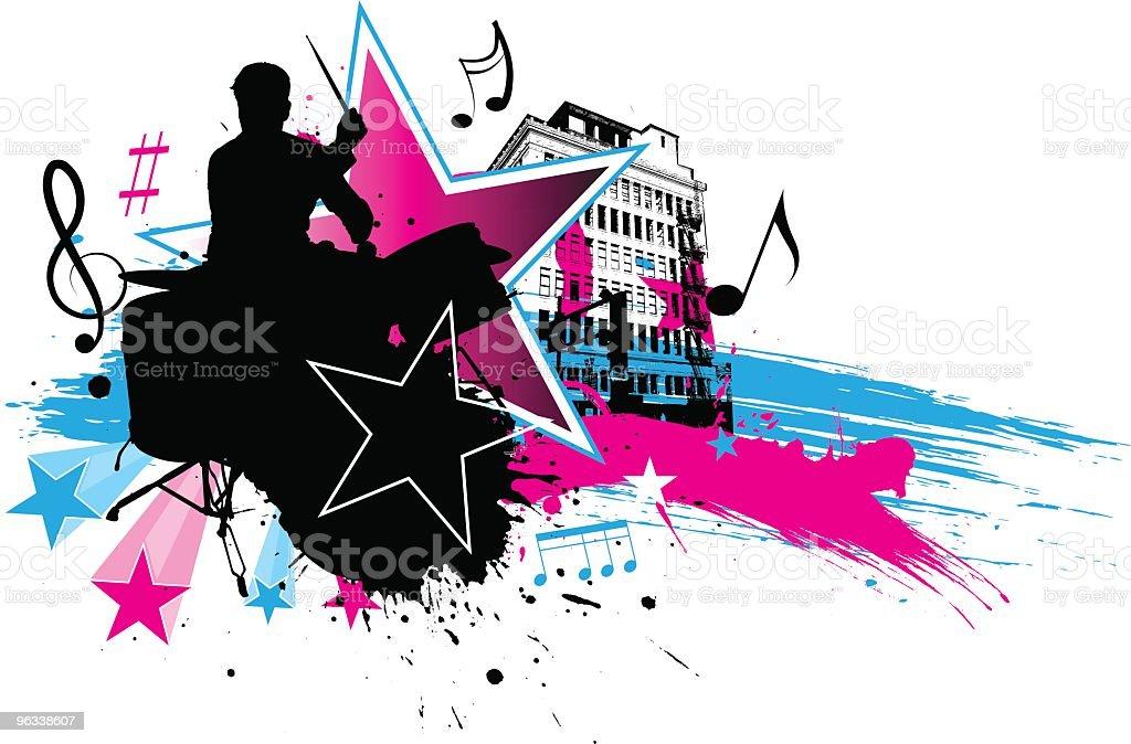 Rock star Perkusista - Grafika wektorowa royalty-free (Akord)