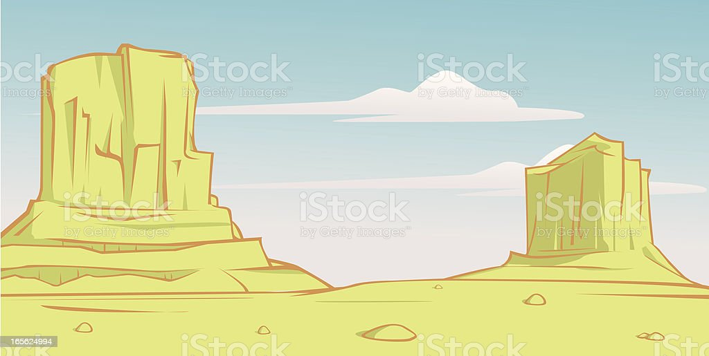 rocky desert country royalty-free stock vector art