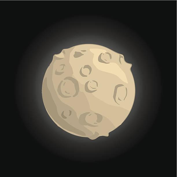 Rocky Planet vector art illustration