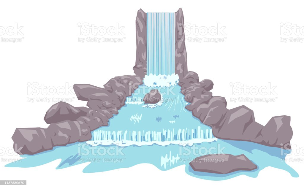 rocky waterfalls and river vector stock illustration download image now istock rocky waterfalls and river vector stock illustration download image now istock
